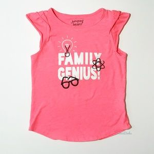 JUMPING BEANS, Family Genius, Pink Accent Tank Top
